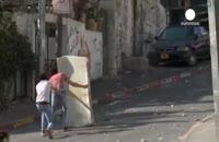 درگیری صدها فلسطینی با پلیس اسرائیلی در بیت المقدس