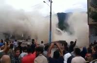 فرو ریختن خانه ها در سواد کوه مازندران بر اثر سیل