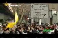 تظاهرات علیه توحش به نام آزادی با شعار مرگ بر فرانسه