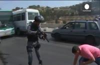 درگیری وحشیانه پلیس اسرائیل با فلسطینیان