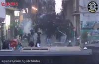 درگیری پلیس یونان و تماشاگران آشوب طلب آتن