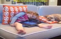دختر بچه ی خواب آلود !!!