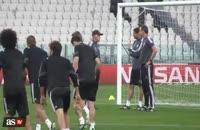 ویدئو تمرین بازیکنان رئال مادرید در تورین