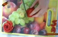 آموزش ساخت گل رز با گوجه فرنگی