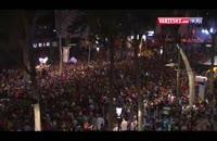 جشن هواداران بارسلونا بعد قهرمانی در جام حذفی