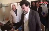فرانسوی ها بر بالین زخمی شدگان ارتش سوریه
