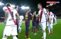 بارسلونا۶-۰رایو والکانو(خلاصه بازی)