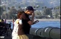 دوربین مخفی سقوط کالسکه کودک به دریا!!