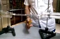 فیلم سوختن سیم ظرف شویی درون لوله شیشه ای