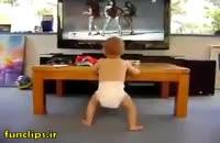 کلیپ جالب و دیدنی تقلید رقص بچه