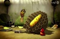 انیمیشن لاروا ماجرای خوردن عسل و نیش زنبور