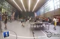 تنیس روی میز با توپ والیبال !!!!!