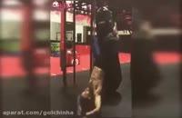 تمرینات استثنائی قهرمان مبارزه آزاد