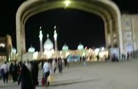 لحظه ی ورود به مسجد مقدس جمکران