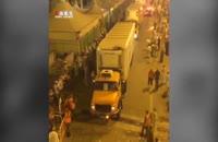 حمل جنازه حجاج با کامیون