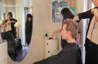 اموزش درست کردن موی کم پشت مردانه با فیلم