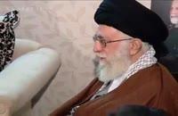 حضور امام خامنه ای در منزل شهید همدانی