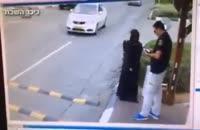 حمله دختر فلسطینی به پلیس اسرائیل