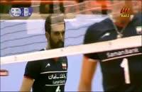 بازی دوم والیبال ایران آمریکا - ایران 3 آمریکا 0