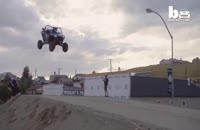 شکستن رکورد جهانی پرش با کامیون