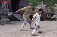 تمرین رزمی پسر بچه با جکی چان