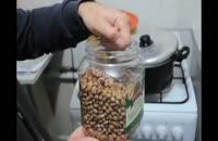 آموزش طبخ خوراک قارچ و لوبیا