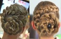 بافت مو به شكل گل