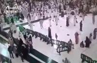 لحظه سقوط جرثقیل در مکه