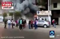 آتش سوزی مهیب عمدی قاهره مصر
