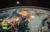 تایم لپسِ «زمین در شب» از ایستگاه فضایی