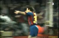 اولین گل مسی برای بارسلونا