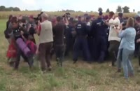 حرکت زشت و ظالمانه ی خبرنگار مجارستانی