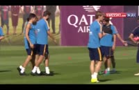 آخرین تمرین بارسلونا قبل بازی با سلتاویگو