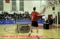 کلیپ های جالب شادی عجیب در مسابقه پینگ پنگ