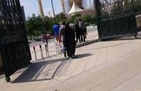 لحظه ورود به صحن و سرای مرقد امام خمینی (ره)