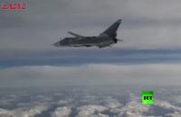 سوختگیری جنگنده های روسی در آسمان