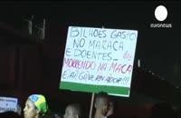 رئیس جمهور نگران در تلویزیون، معترضان خشمناک در خیابان