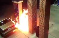 فیلم آتش سوری در پمپ بنزین. به موقع خاموشش کردن