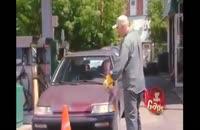 دوربین مخفی تمیز کردن ماشین با ماشین سنگ تراشی !!
