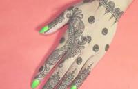 آموزش طراحی دست با حنا شماره 4