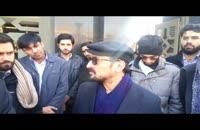 مشایعت دانشجویان با دکتر سعید زیباکلام تا دادگاه