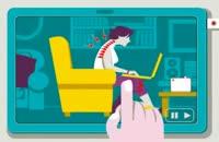 آموزش نحوه ی صحیح نشستن پیشت میز کامپیوتر