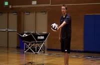 اموزش سرویس ساده والیبال