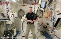 نواختن نی انبان-ایستگاه بین المللی فضا
