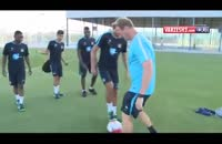 آموزش مهارتهای تکنیکی در مدرسه فوتبال منچسترسیتی