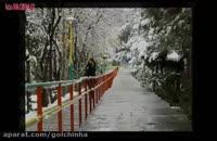 بارش نخستین برف پاییزی تهران