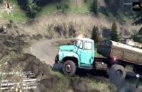 قسمتی از محیط بازی اسپین تایر رانندگی با کامیون