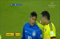 درگیری بازیکنان برزیل و کلمبیا