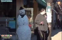 آدم برفی زنده ترسناک - دوربین مخفی