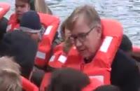 نمایندگان پارلمان آلمان ، سوار بر قایق پناهجو ها
